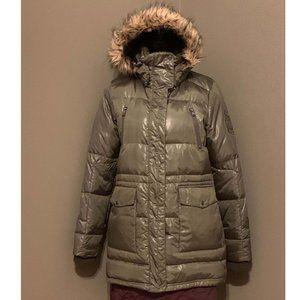 Ralph Lauren Faux Fur Hooded Down Coat Jacket M